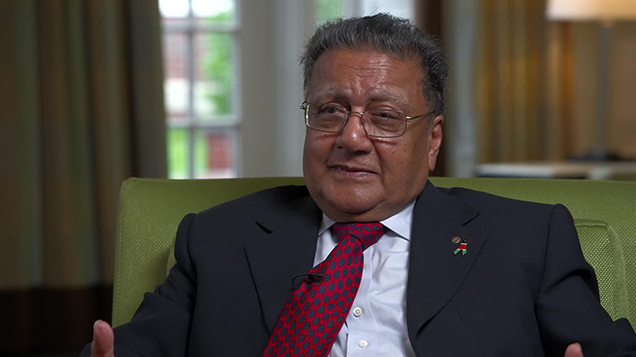 Induction into the African Leadership CEO's Hall of Fame: Dr. Manu Chandaria, CEO, COMCRAFT, Kenya.